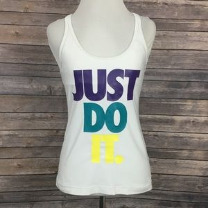 Nike White Just Do It Tank Top